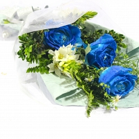 Lovely Blue Rose Bunch