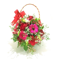 Lovely Mixed Flower Basket