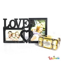 Loving Heart Photo Frame With Ferrero