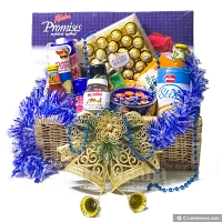 Blue Carol Christmas Hamper