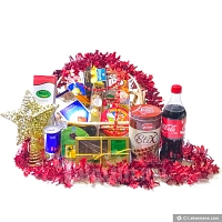 Merry Chistmas Gift Basket -Red