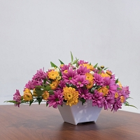 Mixed Chrysanthemum Basket