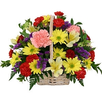 Mixed flower basket for mother