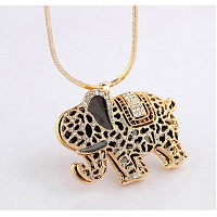 Beads Elephant Pendant Necklace