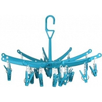 BABY -Plastic Cloth Hanger Blue