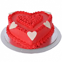 Red Heart Cake - 1.5kg