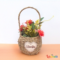 Red Romance Flower Basket