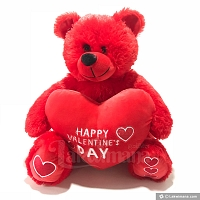 Red Happy Valentines Day Teddy Bear