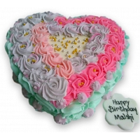 Ribbon Heart Cake