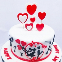 Romantic Couple Birthday Cake