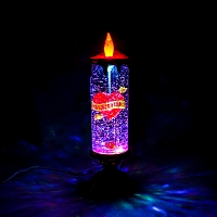 Romantic Multi Color Water Glitter Candle