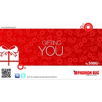 Fashion Bug Gift Voucher Rs.5000/=
