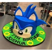 Sonic Face Cake