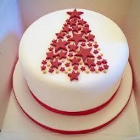 Sparkle Christmas Tree Cake - 1.5Kg