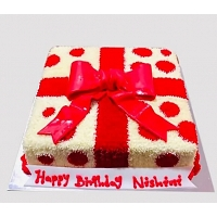 Square Gift Box Bow Cake 1.5Kg