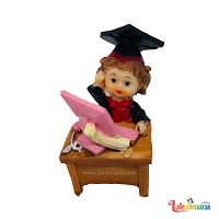 Graduation Girl Figure with laptop
