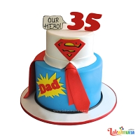 Superhero Dad Cake
