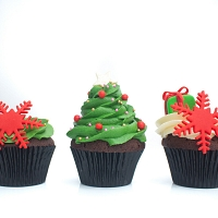Sweet Xmas Gifts Cup Cakes 3pcs