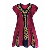 Traditional bathic frock Dark Red