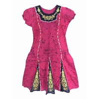 Traditional bathic frock Pink
