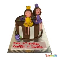 Twin Girls Cake
