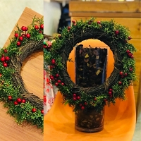 Welcome Santa Christmas Wreath