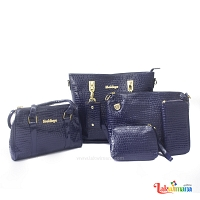 Women's 6 Piece Crocodile Hand Bag