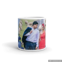 You & Me Personalized Blue Mug