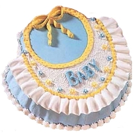 Beautiful Baby Bib Cake 1.85kg