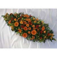 Mixed Flower Coffin Wreath