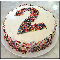 Multi Color Number 2 Cake