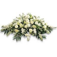 Coffin wreath - White