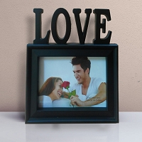 In Love Photo Frame Black
