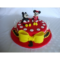 Mickey And Minnie Birthday Cake 1.5kg