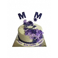 Purple Flower Birthday Cake 2kg