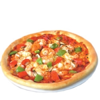 Hot Garlic Prawns Pizza