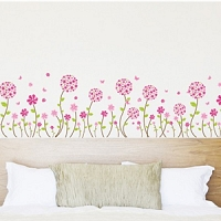 Butterfly Pandora Flower Border Art Wall Stickers