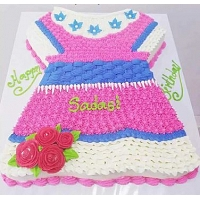 Baby Frock Cake