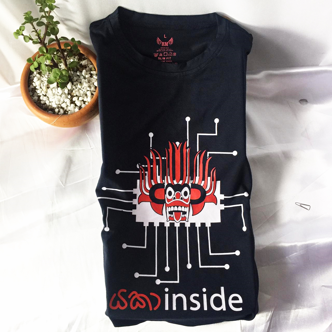Yaka Inside T Shirt Blue